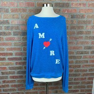 Wildfox Amore Sweatshirt, Sz M